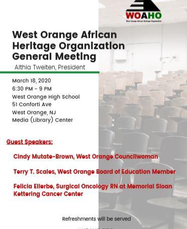WOAHO General Membership Meeting