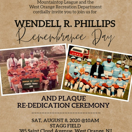 WENDELL R PHILLIPS                            REMEMBERANCE DAY & RE-DEDICATION CEREMONY