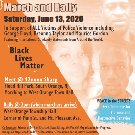 Peace & Justice March & Rally June 13, 2020