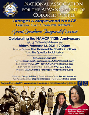THE NAACP OF THE ORANGES & MAPLEWOOD PRESENTS