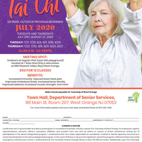 WEST ORANGE SENIORS - LEARN TAI CHI