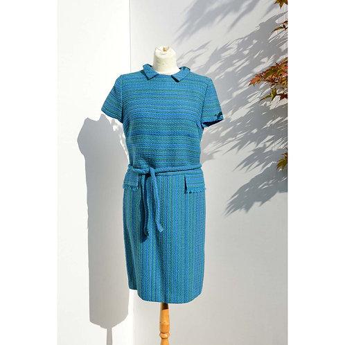 Blå 60tals klänning med krage