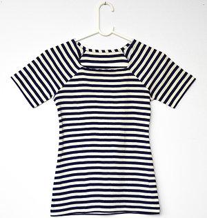 Anna Sailor T-shirt- navy/off white stripe