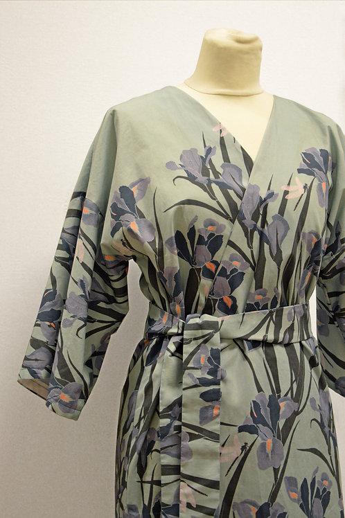Siri Kimono dressing gown- Lilies