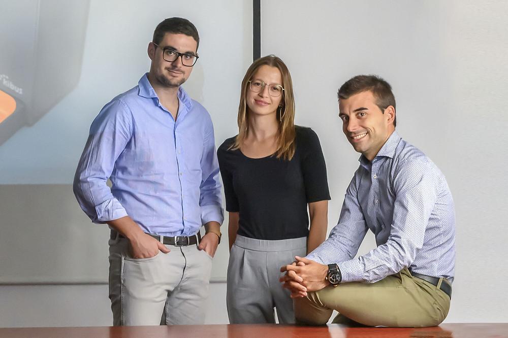 Albert Icart Martori CEO, Marta Arisa Muns COO,  Albert Homs Basas CFO