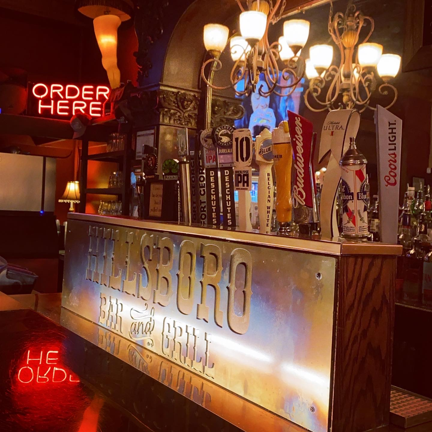 HBG Sign and Beer Taps