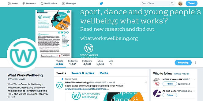 What Works Centre for Wellbeing Twitter profile