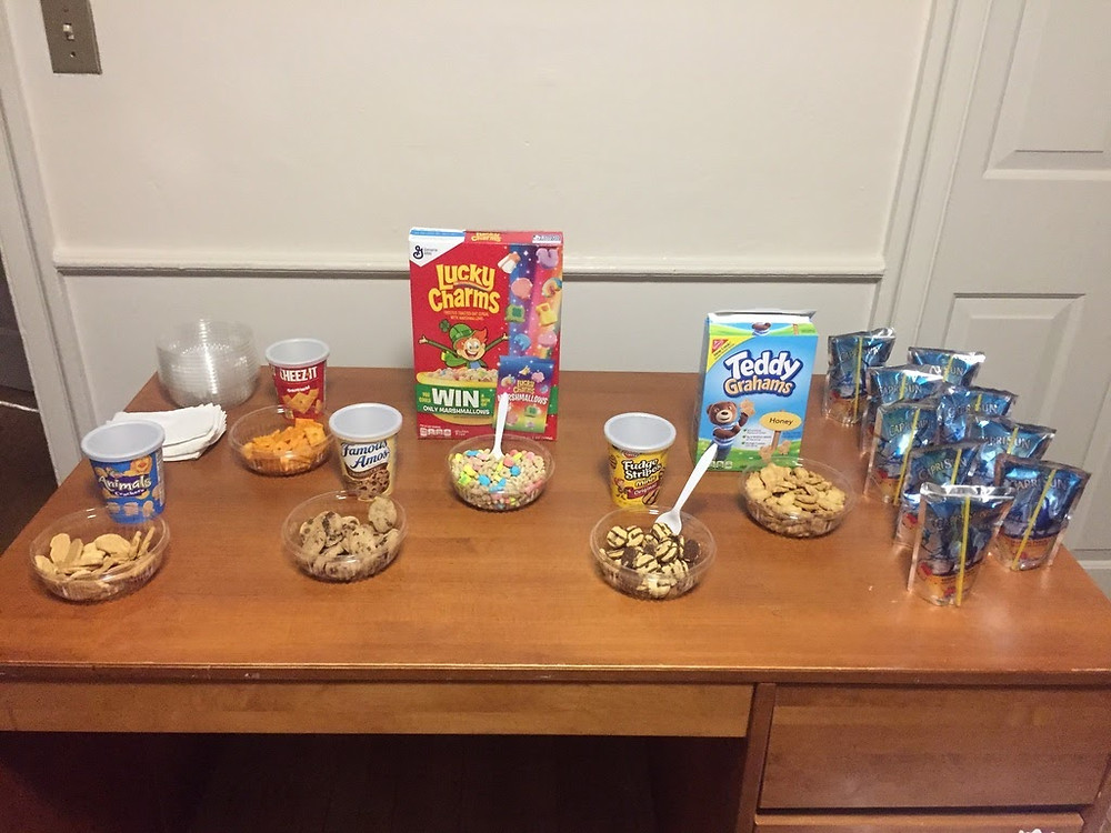 These are some snacks Amy served at one of the study breaks she held for my students (funded by the summer school)!