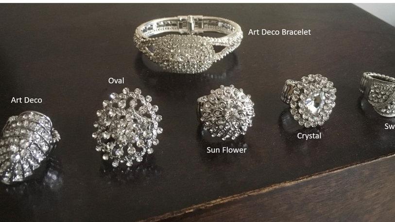 Diamante Stretch Bracelet & Rings From £11 - £16