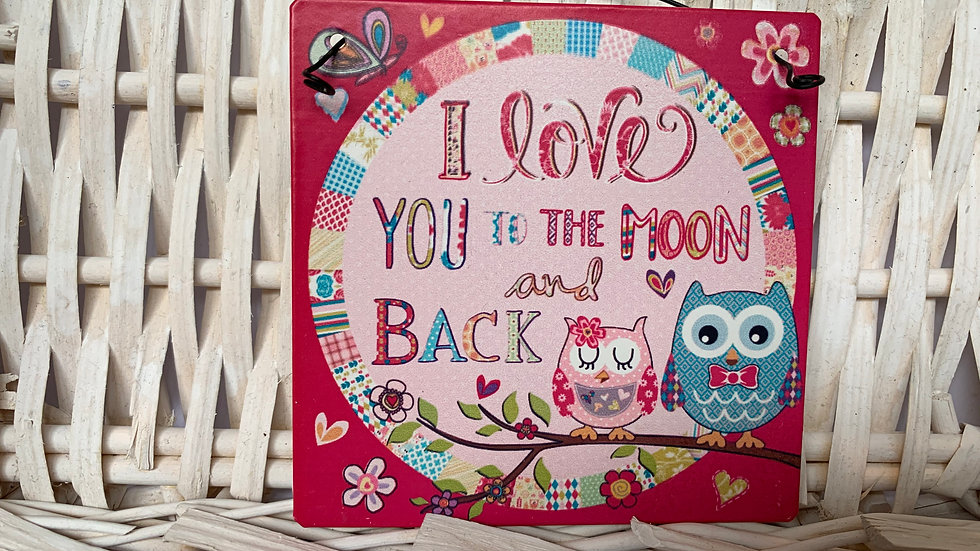 To The Moon and Back Metal Sign