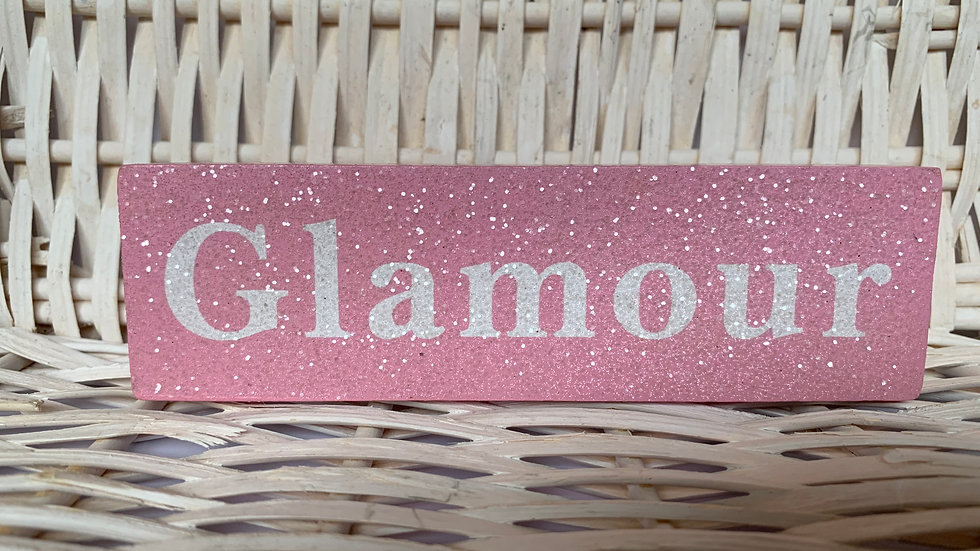 Sparkly Wooden Sign