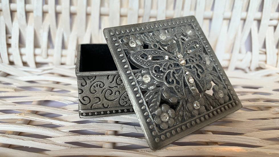 Pewter Butterfly Jewellery Box