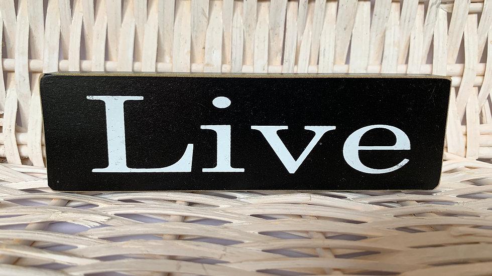 Wooden Block Inspirational Sign