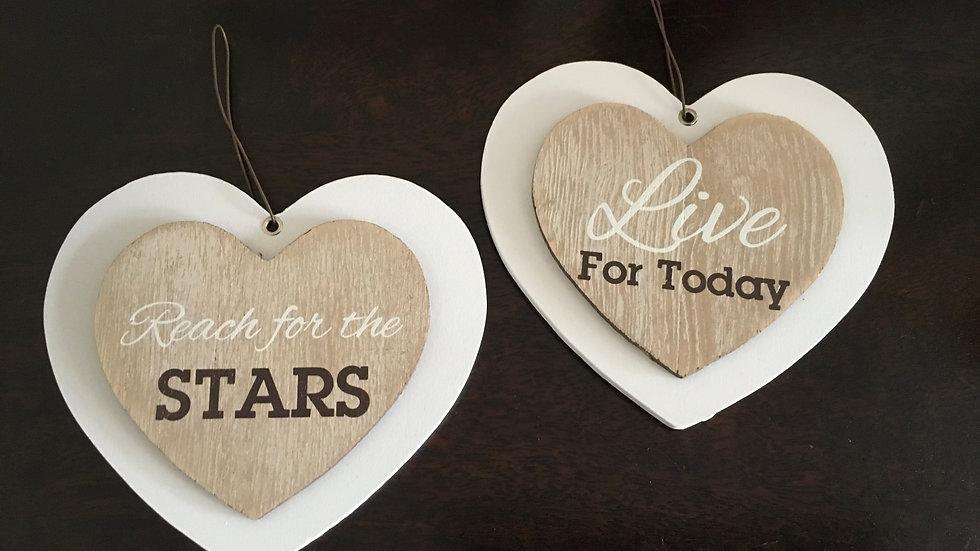 Inspirational Hanging Love Hearts