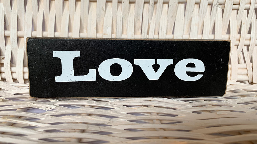 Wooden Inspirational Block Sign
