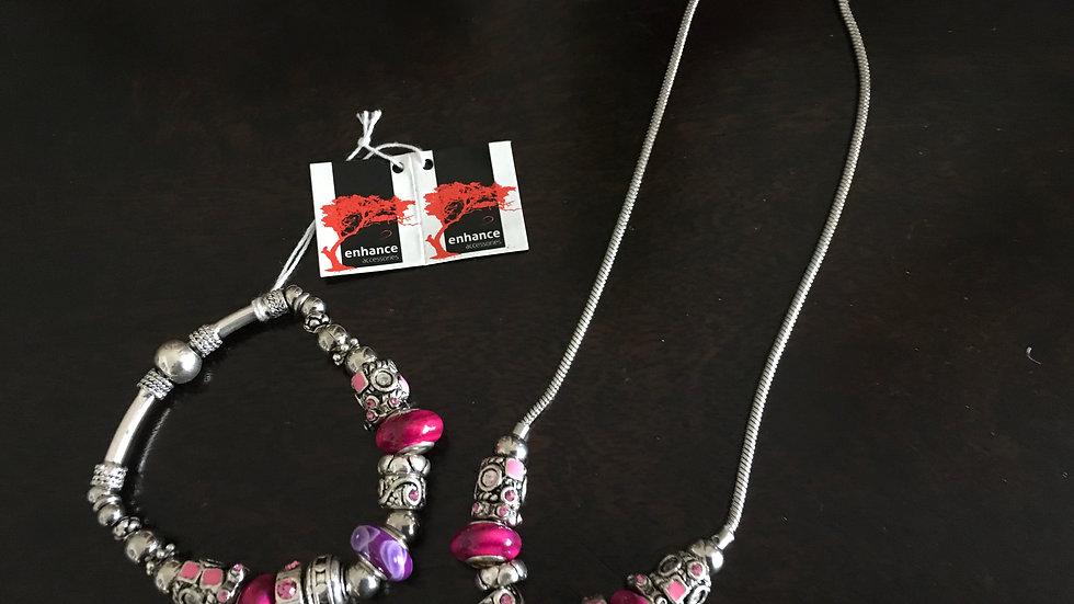 Charm Bracelet & Necklace Set