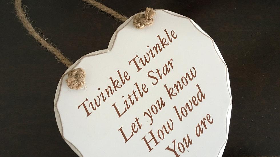 Wooden Message Love Heart