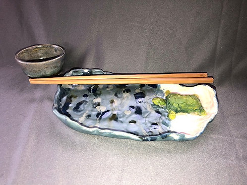3 Piece Sea Turtle Sushi Set