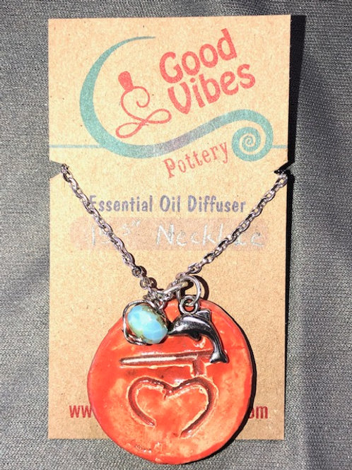 Chakra Root Essential Oil Diffuser Necklace