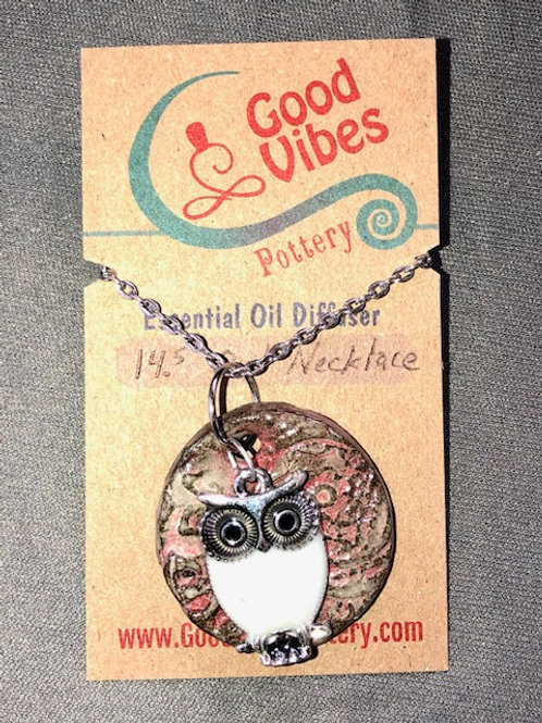 Owl Essential Oil Diffuser Necklace