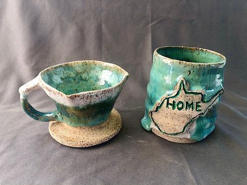WV Coffee Pour Over & Mug Set