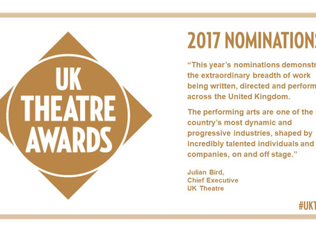 Best Design nomination at UK Theatre Awards