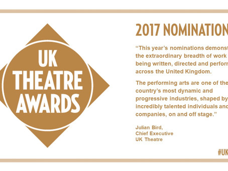 Best Design nomination at UK Theatre Awards
