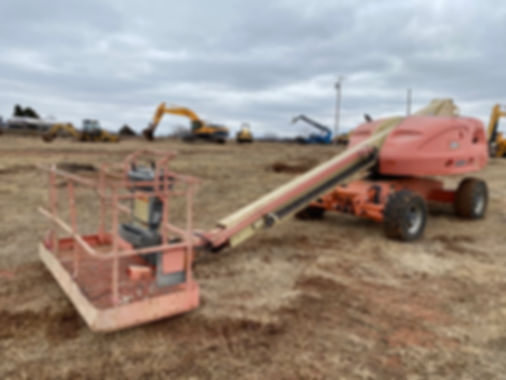 jlg 400s 400 s man lift telescoping telescopic man lift manlift boom boomlift auction for sale rent cheap used rental consignment bank repo