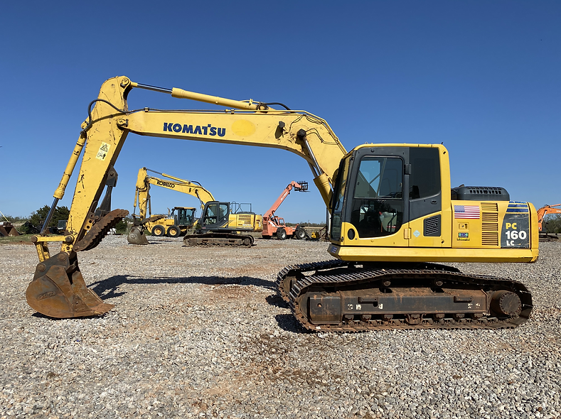 Komatsu PC160LC-8 pc 160 lc trackhoe excavator legal load for sale rent rental auction bank repo farm construction cheap used new
