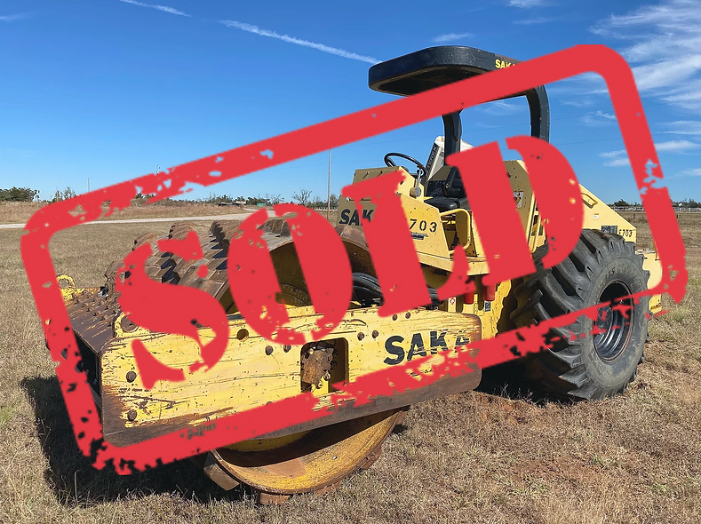 Sakai roller compactor sheeps foot for sale auction bank repo consignment