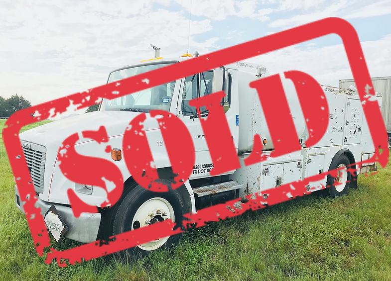 Freightliner fuel service work truck lube for sale auction bank repo consignment oklahoma texas