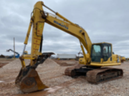 Komatsu p200lc-8 pc 200 lc-8 trackhoe excavator for sale rent rental auction bank repo consignment cheap new used