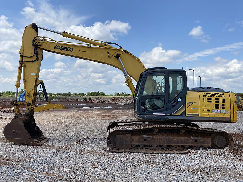 kobelco 210 excavator komatsu sk210lc trackhoe for sale auction bank repo consignment cheap used new rental farm ranch legal load hydraulic manual thumb