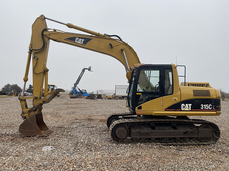 cat caterpillar 315cl 315 cl c l trackhoe excavator thumb hydraulic farm construction legal load