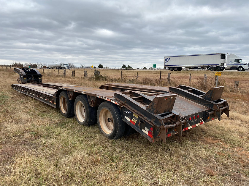 Eager Beaver 50GSL 50 gsl RGN removable gooseneck equipment hauler trailer for sale rent auction bank repo consignment farm