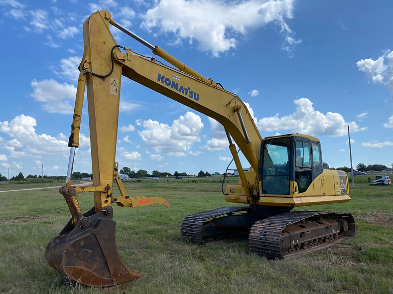Komatsu Pc 200 Lc - 8 Excavator trackhoe for sale consignment bank repo auction farm rent rental for sale cheap used