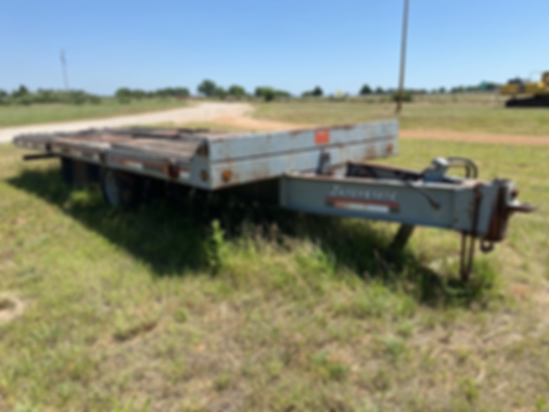 Interstate heavy equipment haul hauling trailer