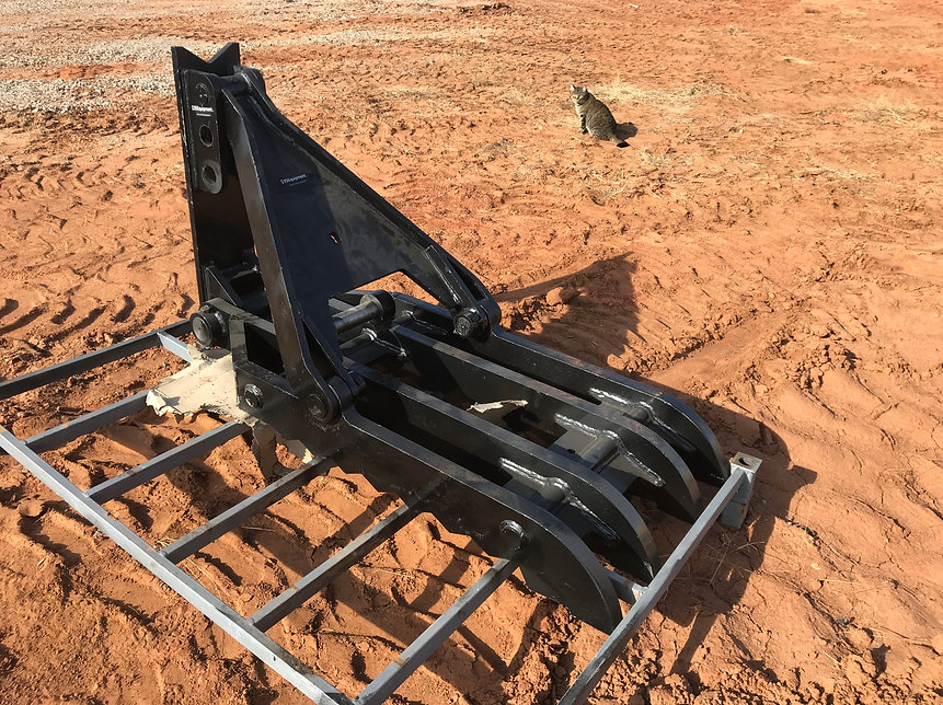 24x58 manual excavator thumb for sale