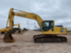 Komatsu PC200lc8 excavator trackhoe for sale rent rental consignment bank repo cheap used new auction