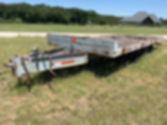 Interstate 24TDA Equipment Heavy haul hauling trailer for sale