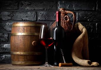Wine in cellar.