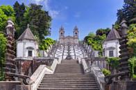 Way to Church of Bom Jesus in Braga.