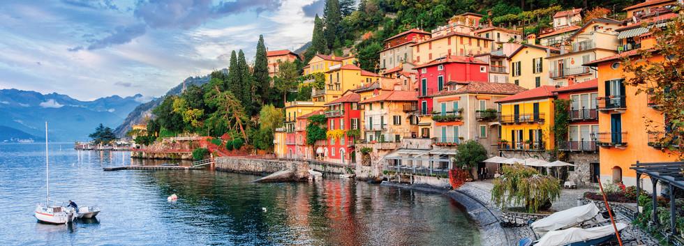 Canva - Town of Menaggio on lake Como, M