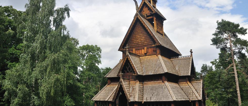 Canva - Gol stave church in Folks museum