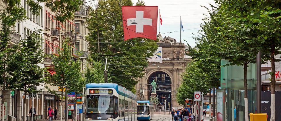 Canva - Zurich shopping street Bahnhofst