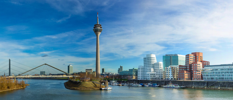 Canva - Dusseldorf cityscape with view o
