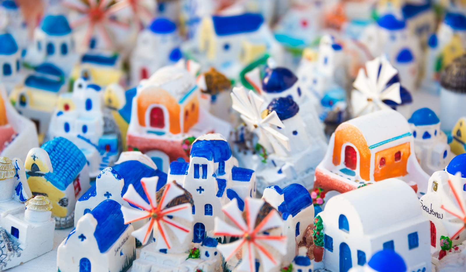 Canva - Souvenirs on Santorini island, G