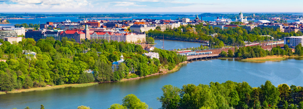 Canva - Aerial panorama of Helsinki, Fin