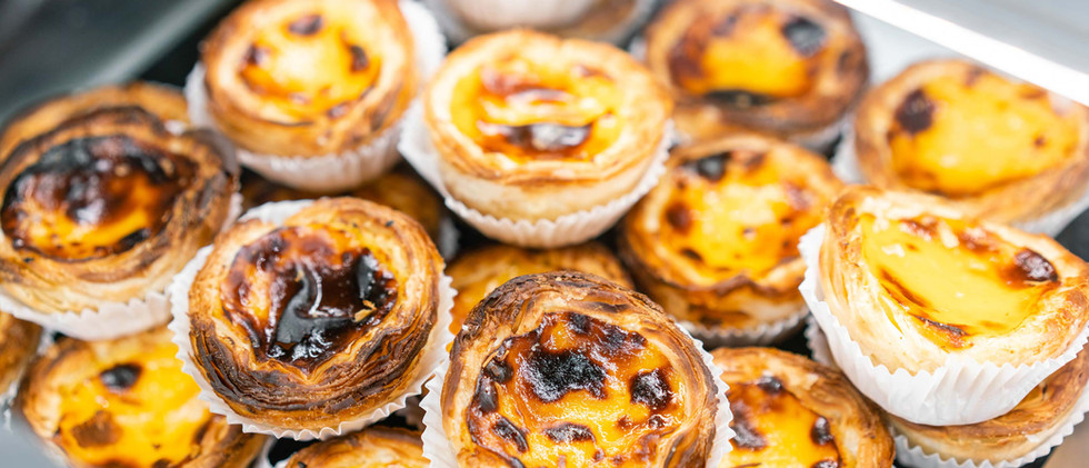 Canva - Rows of egg tart, traditional po