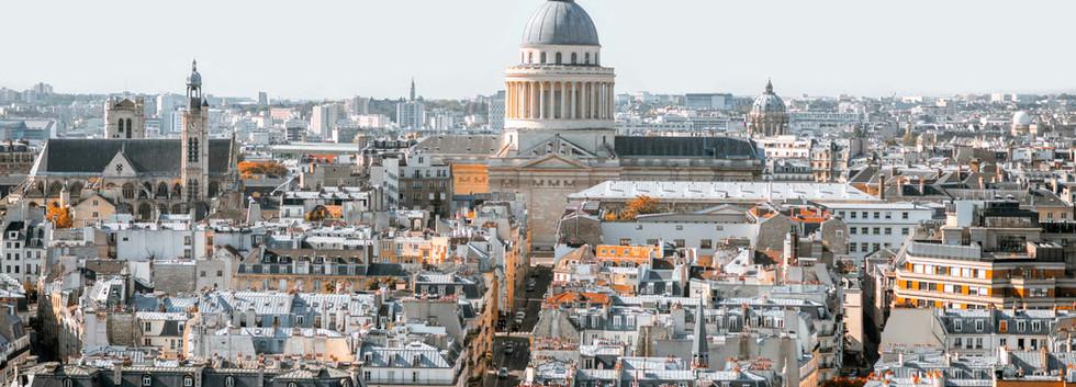 Canva - Aerial cityscape view of Paris (